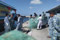 اجرای طرح مقابله با صید غیر مجاز در سواحل شهرستان های زرآباد و کنارک/ ۱۶ شناور صیادی متخلف توقیف شد